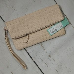 Urban Expressions Adelaide Woven Fold-over Clutch